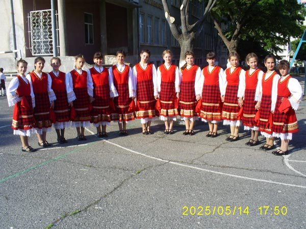Folk dance group with new costumes